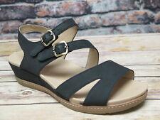 Dansko  Angela Milled Black Nubuck Sandal  *1533-470300