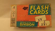 Vtg Milton Bradley Flash Cards Nos Self-Teaching Division Math 4x6