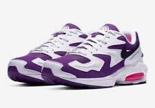 NIKE AIR MAX 2 LIGHT WHITE BLACK COURT PURPLE AO1741-103 SIZE 7 UK EUR 41