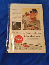 "1933 Original Coca Cola Magazine ad Feeling Fit For Whats Ahead 6 3/4""x10"""