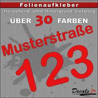 HN10 - Hausnummer Türschild Aufkleber  - Schild/Briefkasten/Nummern/Straße