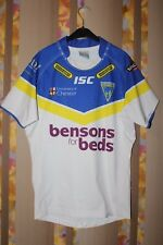 WARRINGTON WOLVES ISC SUPER RUGBY LEAGUE SHIRT JERSEY TRIKOT PLAYER ISSUE