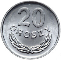 Polen - Münze - 20 Groszy 1981 - Aluminium - Stempelglanz UNC