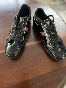 Black Patent Trainer Shoe size 9  (43) New
