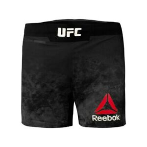 NEW Men's Reebok Authentic UFC Fight Night Octagon Short - Size 34 - Black