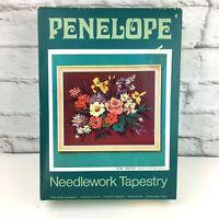 "Paragon Needlepoint kit Festival vintage started UK floral Anchor wool 22"" x 18"""