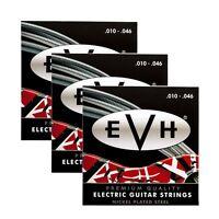 3 Sets Packs of EVH 1046 Eddie Van Halen Premium Electric Guitar Strings (10-46)