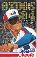 1984 MONTREAL EXPOS BASEBALL POCKET SCHEDULE - FRENCH