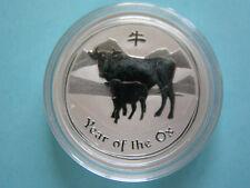 50 Cents Australien 1/2oz Ochse Ox Lunar 2009 Silber