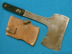 VINTAGE IMPERIAL USA BOY SCOUTS HUNTING CAMP AXE HATCHET KNIFE SHEATH SURVIVAL
