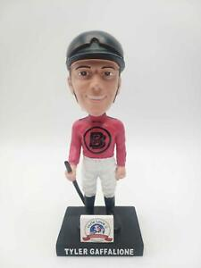 TYLER GAFFALIONE BOBBLEHEAD... LOW NUMBER. .RARE. Autographed Jockey