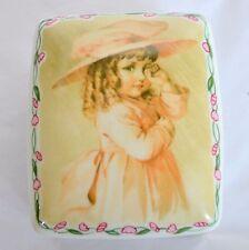 Heirloom Music Box No More Tears Brahms Lullaby Trinket Jewelry Dish Maud Bogart