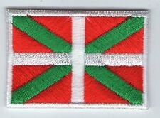 ECUSSON PATCH THERMOCOLLANT DRAPEAU PAYS BASQUE EUSKADI DIMENSIONS 4,5 X 3 CM