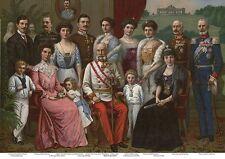 Kaiser familia Sissi Franz Josef Austria K & K 4 monarquía büttenfaksimile