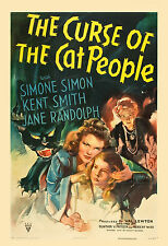 Horror: * Curse of The Cat People * Val Lewton Movie Poster 1944
