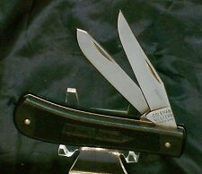 "Coleman Western Trapper Circa 1984 3-5/8"" Closed USA Made Black Zytel Handles"