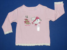 Childrens Place NEW Pink 100% Cotton Teddy Bears Top Girls Size 3-6 Months