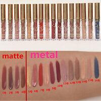 16 Farben Long Last Wasserdicht Matte Metal Lippenstift Gloss Makeup Lippenstift