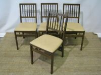 Set of 4 Stakmore Retro Upholstered Folding Chairs Exceptionally Clean /2