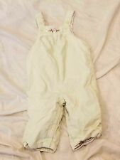 "Janie & Jack ""Autumn Rose"" Lined Light Green Corduroy Overalls. 6-12 months"