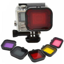 5 Colors Underwater Diving Filter Lens Cover For GoPro HD Hero 4 3+ Housing Case