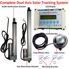 Complete Dual Axis Solar Tracking System -LCD Solar Panel Sunlight Tracker Kits