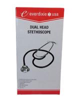 DOUBLE / DUAL HEAD STETHOSCOPE Doctor Nurse Medical Healthcare EVERDIXIE