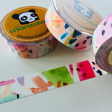WASHI TAPE WATERCOLOUR PALLETE 15MM X 10MTR PLANNER CRAFT WRAP SCRAP MAIL ART