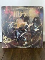 Kiss Signed LP Alive By 4 Musicians On LP