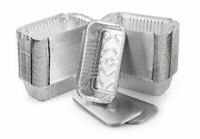 More details for 100 x aluminium foil food containers + lids no 6a - takeaways or home use strong
