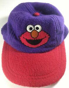 Vintage Sesame Street Elmo Hat Toddler Boys Girls Children Kid Youth Purple Red