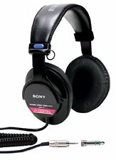 Sony Professional Studio Over Ear Monitor Headphones with CCAW Voice Coil, Black