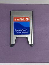 SanDisk Compactflash CF PC Card Adapter +ATA PC Card PCMCIA Adapter Guaranteed