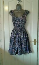 LADIES CUTE BLUE FLARED  SUMMER DRESS FROM WAREHOUSE SIZE 10