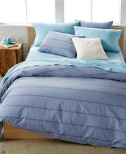 Calvin Klein Washed Essentials Queen Duvet Set Grid Wisteria Plaid Blue $240 New