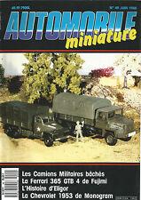 AUTOMOBILE MINIATURE N°49 CAMIONS MILITAIRES BACHES / FERRARI 365 GTB 4