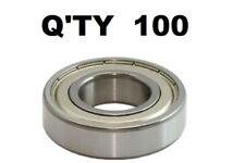 (QTY 100) 608-ZZ Ball Bearing Dual Shielded Metal Chrome 8x22x7 MM