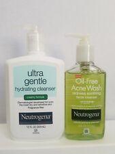 Neutrogena Ultra Gentle Hydrating Cleanser Creamy Formula & Oil Free Acne Wash