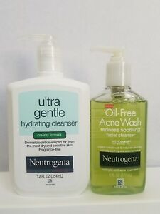 Neutrogena Ultra Gentle Hydrating Cleanser Creamy Formula & Oil Free Acne Wash