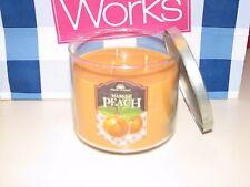 1 Bath Body Works Fresh Picked MARKET PEACH Candle 3 wick 14.5 oz Citrus