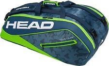 HEAD Tour Team 9 Supercombi racquet racket tennis bag - Navy/Green - Auth Dealer