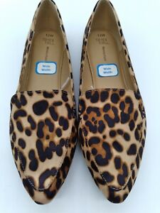 Womens Leopard Animal Print Slip On Shoes Size 11 Memory Foam Ballet Flats Boho