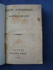 POESIE NAPOLETANE DI DOMENICO PICCINNI-STARITA, NAPOLI 1826-ANTIGNANO