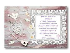 12 Personalised Girls First - 1st Holy Communion Invitations - Invites  CM5