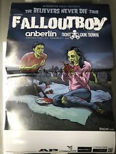 Fallout Boy Tour Poster Anberlin Punk Rare Blink 182 Zombie Dont Look Down