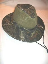 NEW Henschel Hat MOSSY OAK Camo AUSSIE BREEZER Hunting Fishing Hiking Hat NWT XL