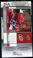 Eric Staal JSA Coa Hand Signed 2009 10 Upper Deck Game Jersey Autograph