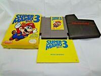 NINTENDO NES SUPER MARIO BROS.3 COMPLETE WITH BOX AND MANUAL RARE!!