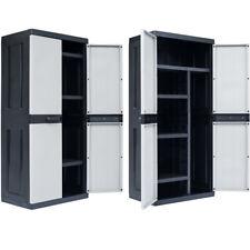 Garden Patio Storage Cabinet 3/4 shelves Yard Tool Shed Organiser Locker Outdoor