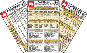 Anästhesie Medikamenten-Set ( 3er-Set )